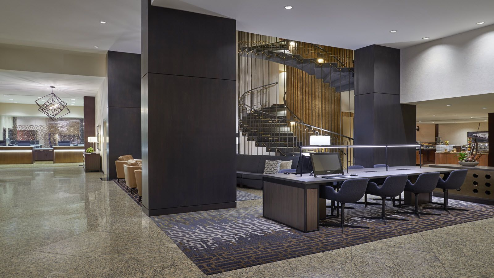 Newly Renovated Ottawa Hotel Lobby